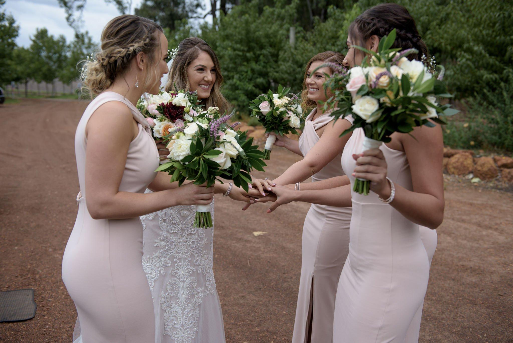 bride squad ready to go