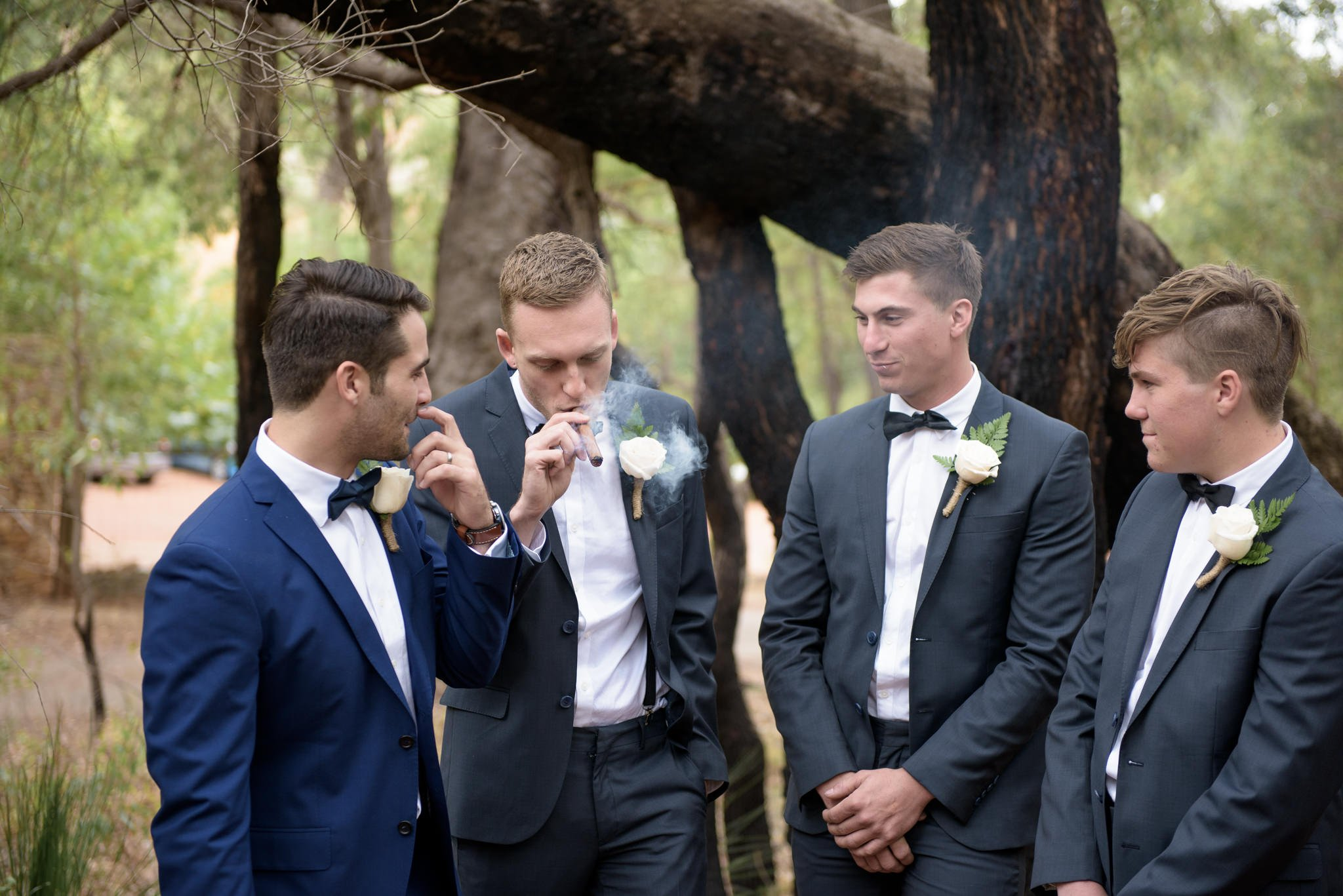 Groom and his squad
