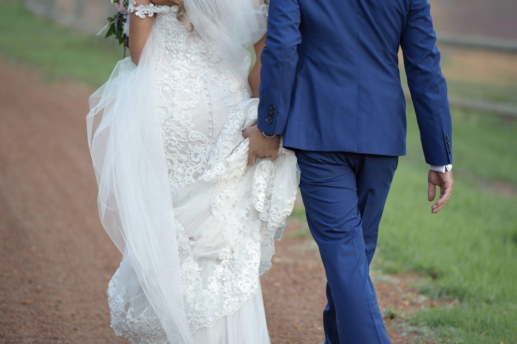 bride and groom deatil
