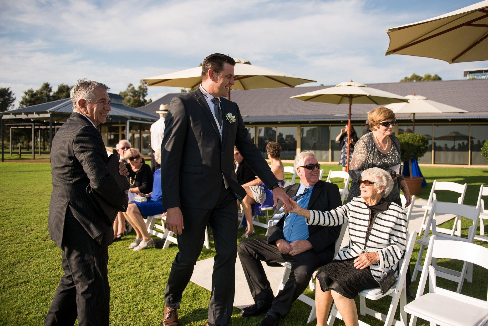 groom with his grandma