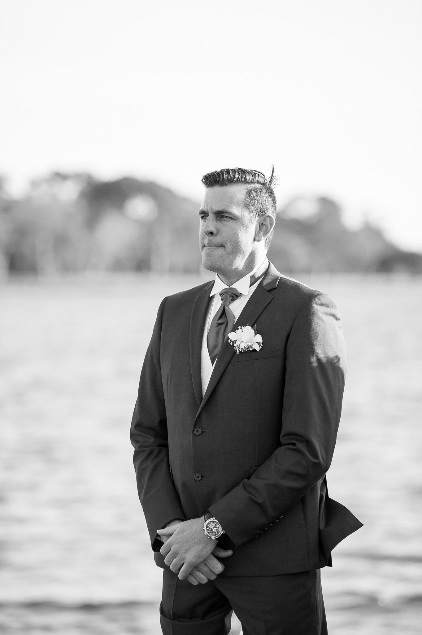 groom waiting
