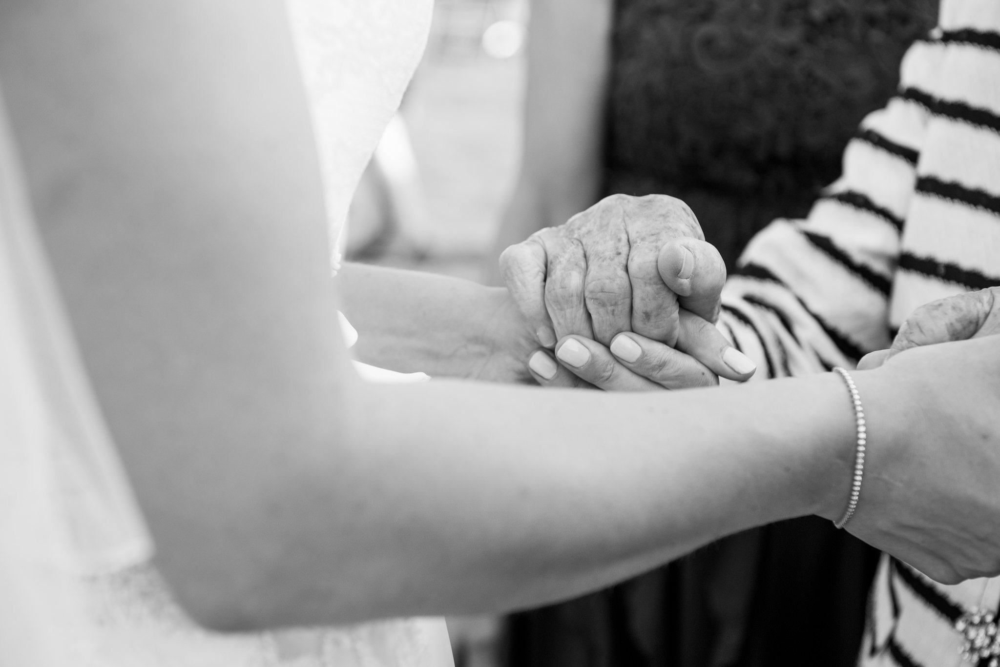bride and grandmas hands
