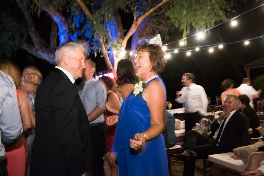 parents of the bride dancing