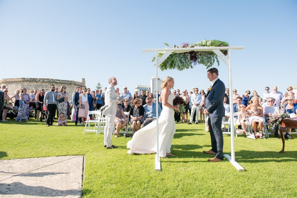 Fremantle wedding ceremony