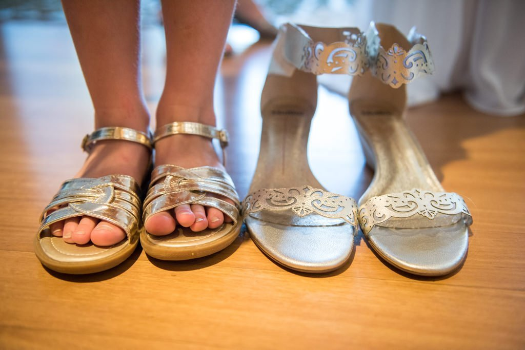 brides shoes and flowergirls shoes