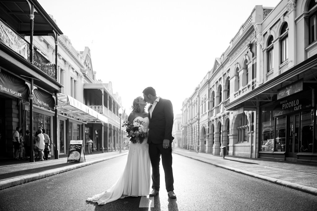 newlyweds in Fremantle