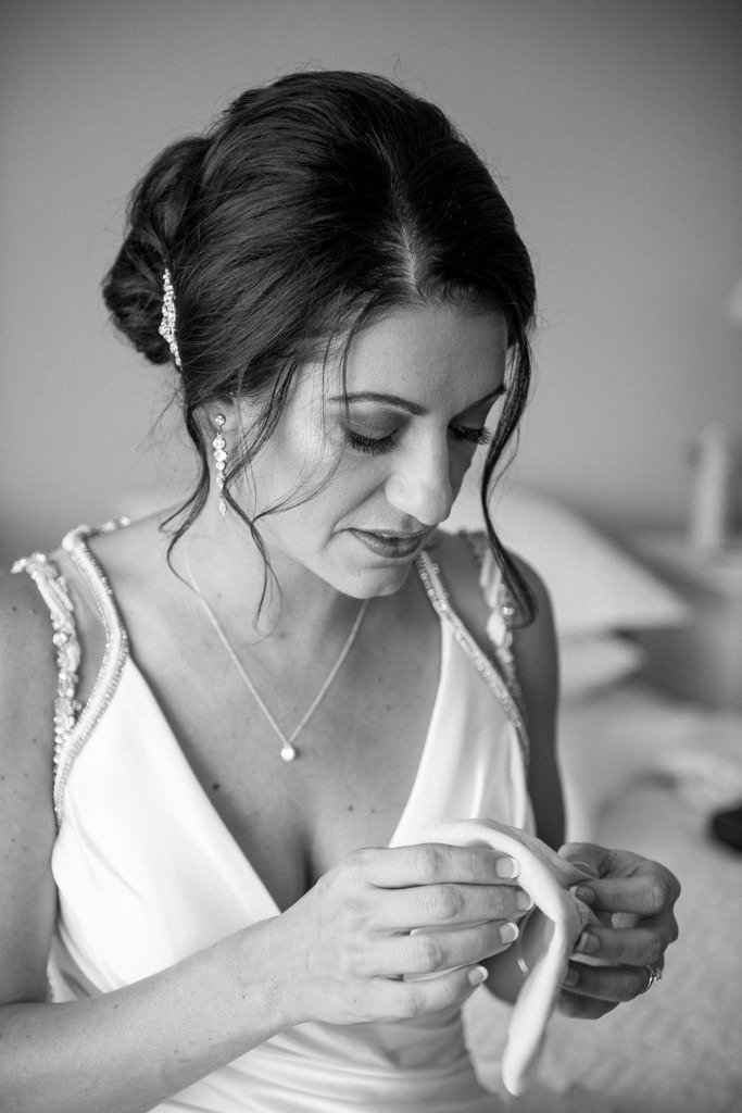 bride having a moment