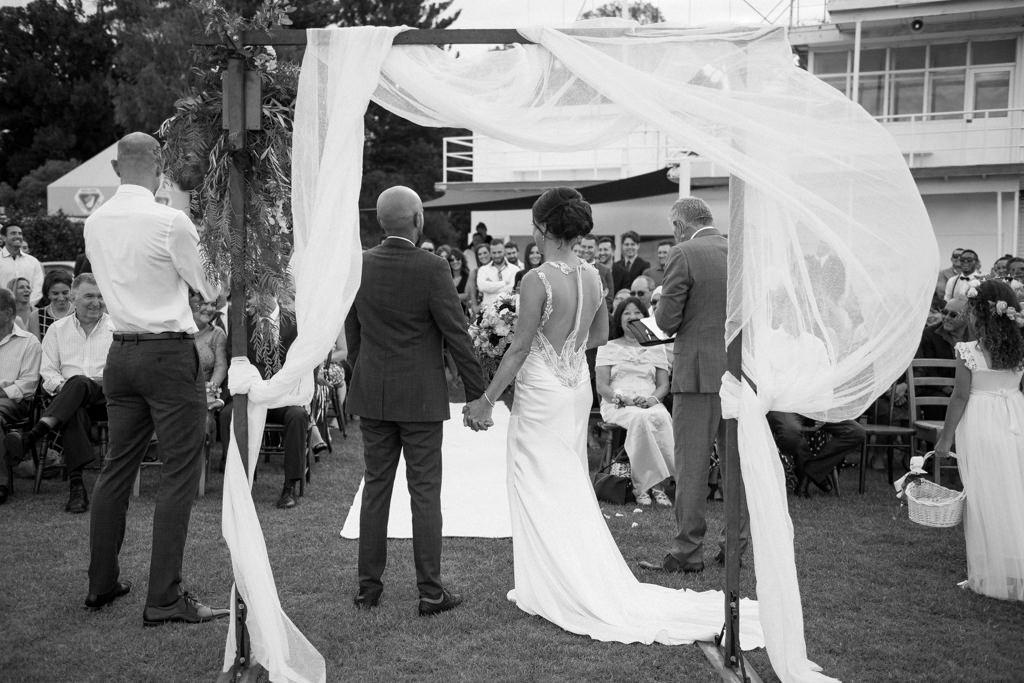wedding ceremony at nedlands yacht club