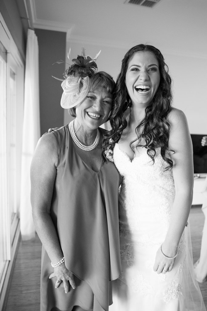 bride and her stepmother