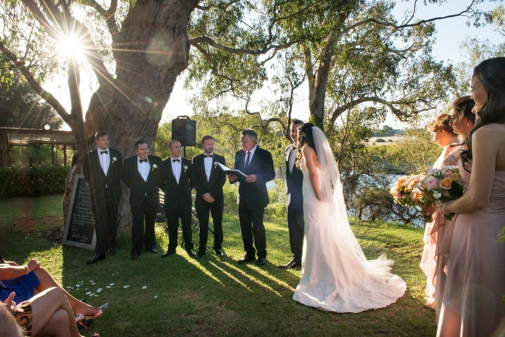 swan river wedding ceremony