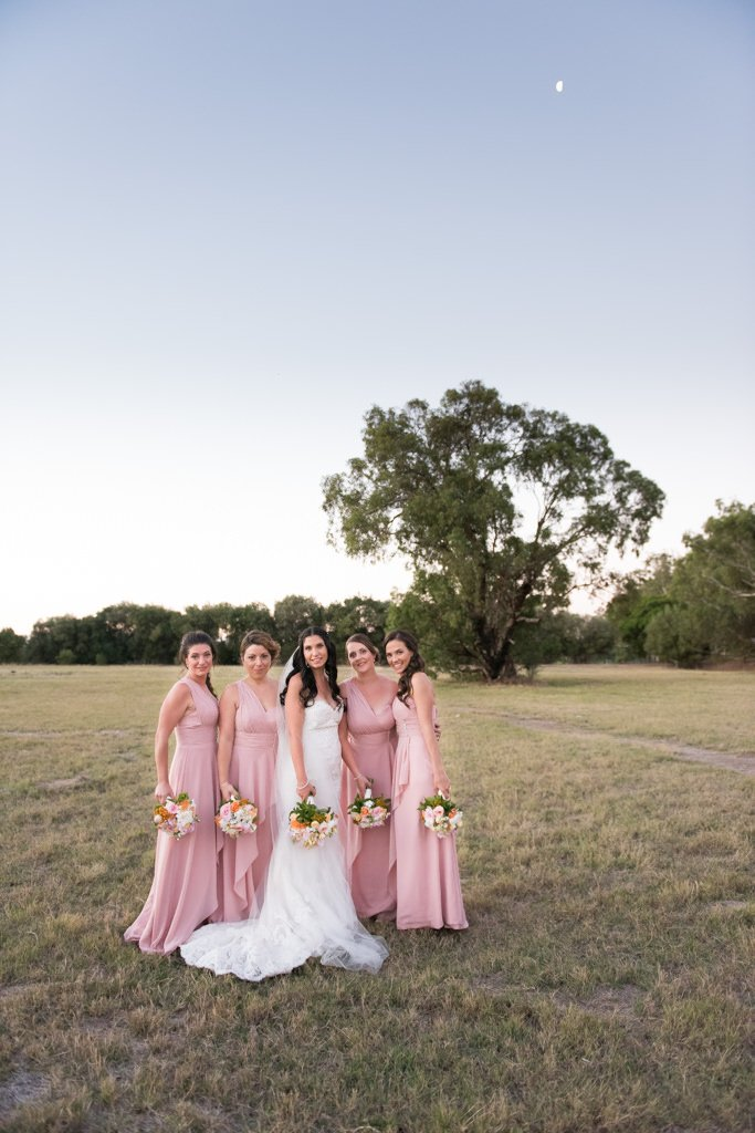 bridesmaids and the moon